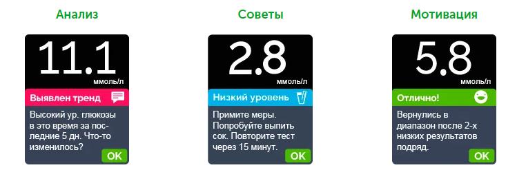 Функция ПОМОЩНИКА Blood Sugar Mentor