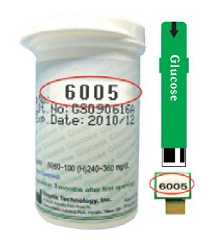 Тест-полоски Изи Тач на глюкозу зеленого цвета
