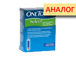 Тест-полоски Ван Тач Селект №50 (OneTouch Select). Цена дженерика Diacont 1.